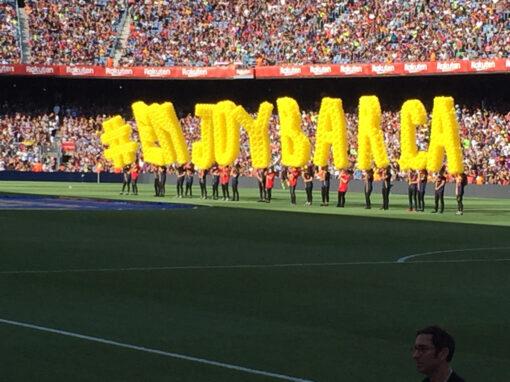 Mes globus amb el Barça